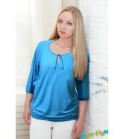 Блуза для кормящих мам бирюза
