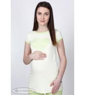 Туника для беременных Greis лимонная