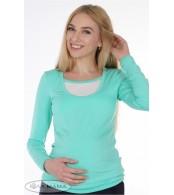 Лонгслив для беременных Layma  мята с молоком