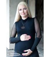 Гольф для беременных из трикотажа Lotta черный