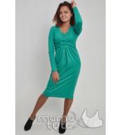 1102184929c2420 Нарядное платье УЗЕЛ для беременных и кормящих мам цвета минт