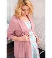 Халат - кардиган  для беременных и кормящих мам с запахом Mocco