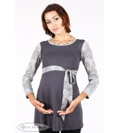 Серая туника для беременных Sesily