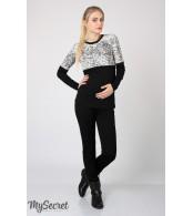 Черные брюки-лосины Carly теплые для беременных