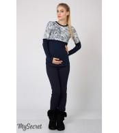 Темно-синие брюки-лосины Carly теплые для беременных