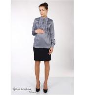 Темно-синяя юбка для беременных Alma