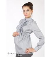 Серая блузка для беременных Michele