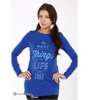 Синяя свободная туника Kristen best  для беременных из хлопкового трикотажа
