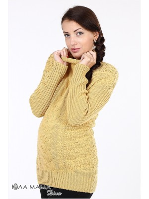 Желтый свитер для беременных Amber из тонкой, но очень теплой овечьей шерсти