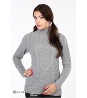 Серый свитер для беременных Milada из овечьей шерсти