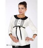 Молочная блузка Camilla для беременных из искусственного сатина