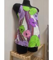 Купальник для беременных   фиолетовые цветы