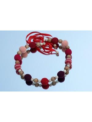 Слингобусы ручной работы ''Полнота ощущений'', красный/розовый