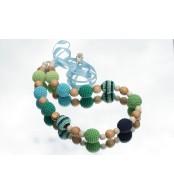 Слингобусы ручной работы ''Полнота ощущений'', зеленый/голубой