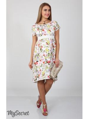 Платье для беременных  и кормящих  Flyor, штапель ирисы на молоке