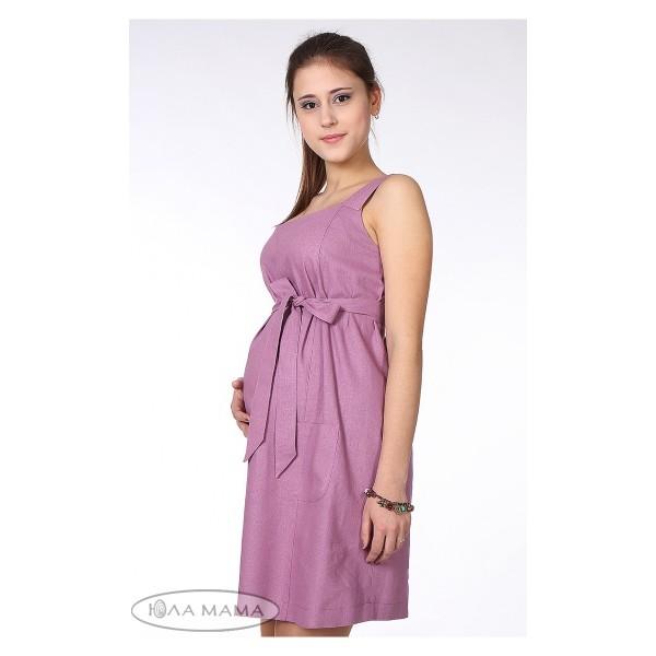 Льняной сарафан для беременных 34