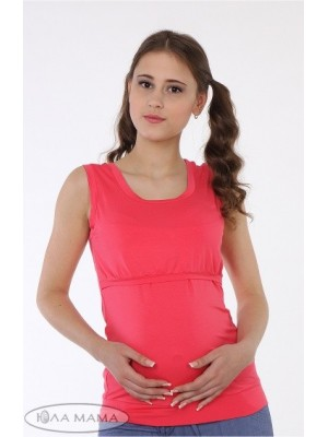 Майка для беременных и кормящих мам Liza, коралл