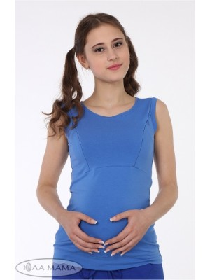 Майка для беременных и кормящих мам Silva, синий
