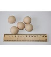 Бусины деревянные 30 мм (10 шт. в упаковке)