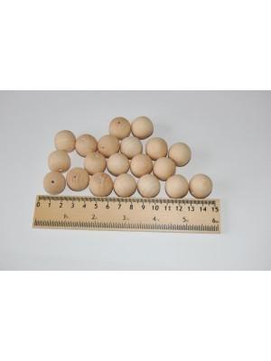 Бусины деревянные 20 мм (20 шт в упаковке)
