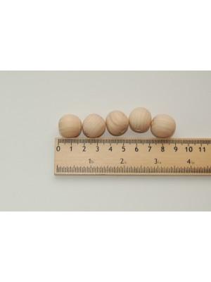 Бусины деревянные 18 мм (20 шт в упаковке)