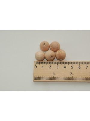 Бусины деревянные 13 мм (20 шт в упаковке)