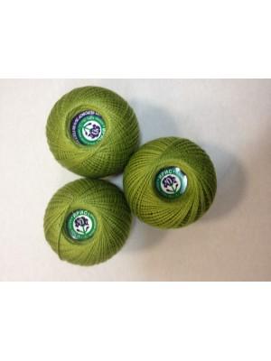 Нитки Ирис для вязания, цвет  зеленый
