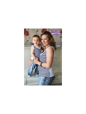 Майка детская «Легкость бытия»  синяя полоска