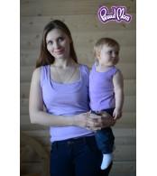 Майка детская в рубчик, сиреневая