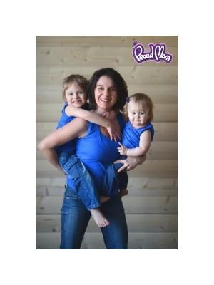 Майка детская в рубчик,  ярко-синий
