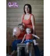 Майка детская в рубчик,  теракот