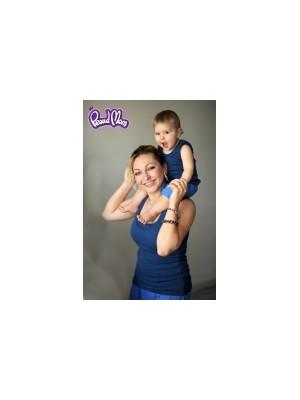 Майка детская в рубчик,  индиго