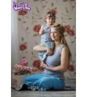 Майка детская в рубчик,  серый меланж