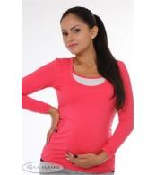 Лонгслив для беременных и кормящих Layma,  коралл с молоком