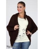 Кофта-шаль для беременных  Kara,  коричневый