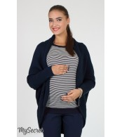 Кофта-шаль для беременных  Kara,  синий