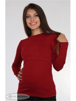 Лонгслив для беременных и кормящих  Maria,  бордо