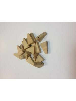 Бусины деревянные  треугольник (20 шт. в упаковке)