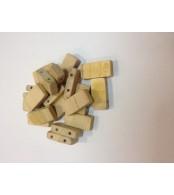Бусины деревянные  прямоугольник (20 шт. в упаковке)