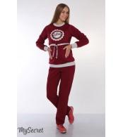 Спортивные брюки для беременных  Pleasure, бордо
