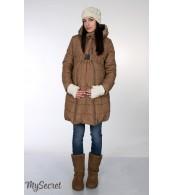 Зимнее пальто для беременных   Neva, песочный