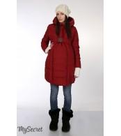 Зимнее пальто для беременных   Neva, бордовый