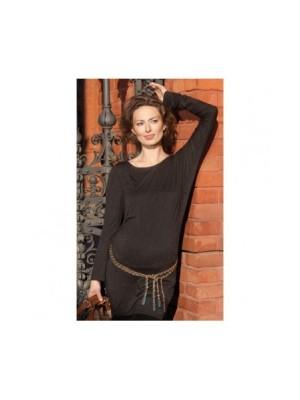 Блузка-туника для беременных Floa, черно-золотой