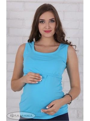 Майка для беременных и кормящих мам  Liza new, голубой