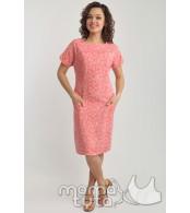 Летнее платье  для кормящих,  розовые цветы