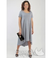 Платье колокольчик  цвет - серый жемчуг