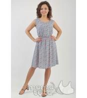 Платье  короткое  цвет -  незабудки