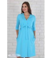 Халат для беременных и кормящих мам   Libery, голубой
