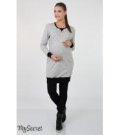 Платье  для беременных  и кормящих   Sava, серый меланж