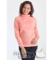 Пуловер на змейках  персикового цвета